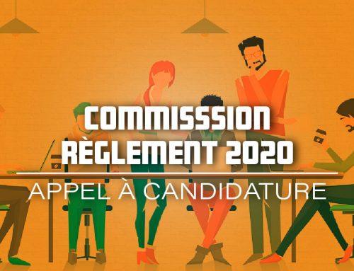 Rejoins-nous pour écrire le règlement 2020