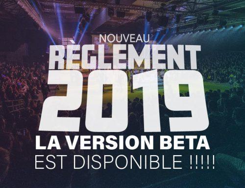 Règlement 2019 – La beta est disponible